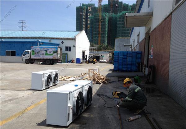 光明乳业包装材料仓库常温机组冷库安装